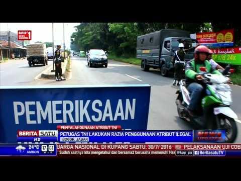 Puluhan Warga Sipil Terjaring Razia Atribut TNI