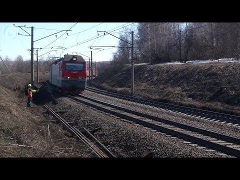 В селе Жеребцово детям приходится добираться до школы по железнодорожным путям