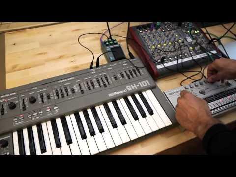 Roland TR-606 + Roland SH-101 Drumatix Vintage Analog Drum Machine Synthesizer DEMO