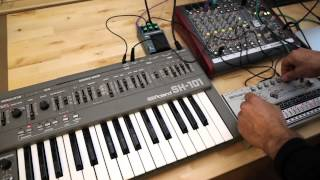Roland TR-606 + Roland SH-101 Drumatix Vintage Analog Drum Machine Synthesizer DEMO