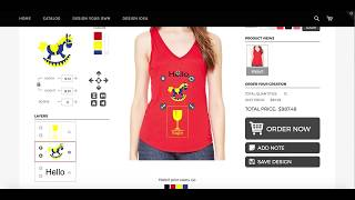Shopify T shirt Designer App - download print ready vector PDF