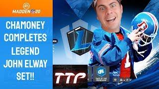 Madden 20 Ultimate Team Completing John Elway Set!