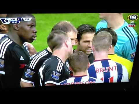 John Terry red card vs west brom - with English commentary