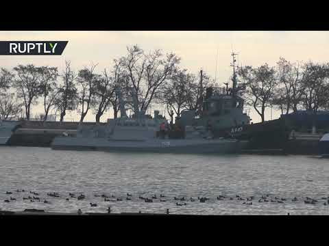 RAW: Ukrainian ships seized & towed to the Kerch port after tense standoff