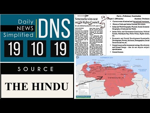 Daily News Simplified 19-10-19 (The Hindu Newspaper - Current Affairs - Analysis for UPSC/IAS Exam)