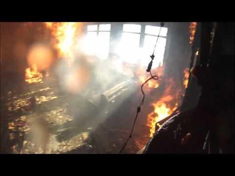 HELMET CAM FIRE CONTOUR ROAM INCENDIO CALLE LOS CARRERA