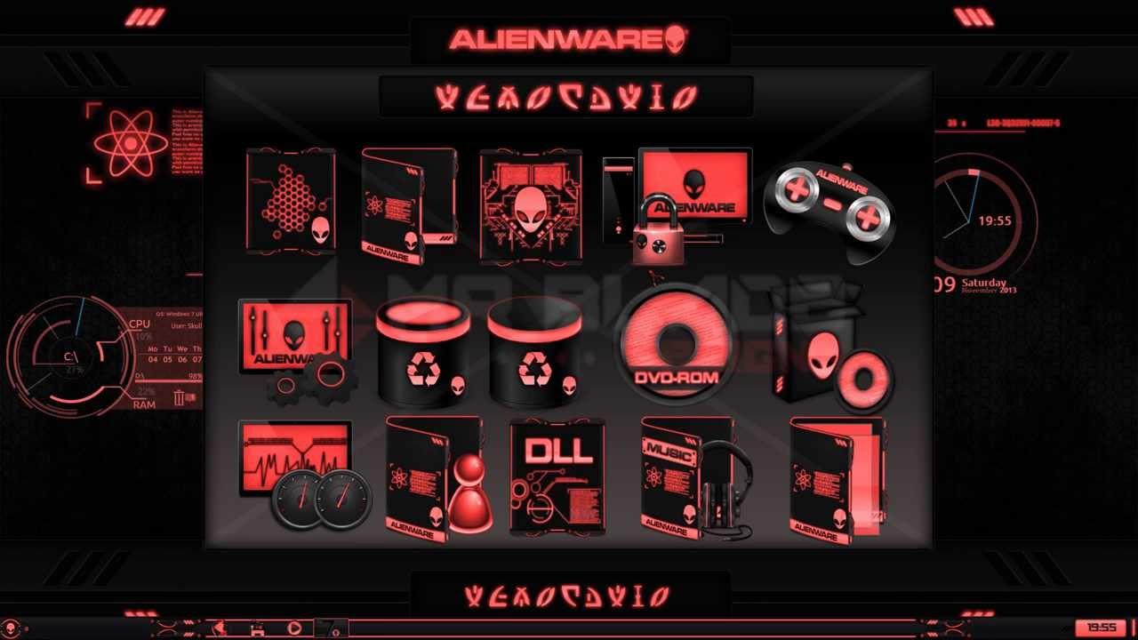 Alienware 174 Eclipse Red Premium Theme For Windows 174 Se7en