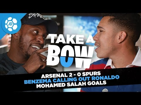 Arsenal 2-0 Spurs, Benzema Calling Out Ronaldo, Mohamed Salah Goals - Take a Bow