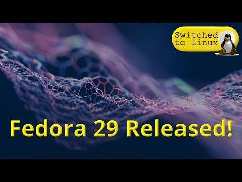 Fedora 29 Released!