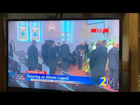Hank Aaron Memorial Service Covered Live On Many Atlanta Channels, Today