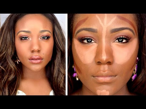 HOW TO: DRUGSTORE Contour Highlight Foundation for Black Women