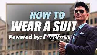 How To WEAR a SUIT | Men's Fashion Tips for Indians | Decoding WELL TAILORED SUIT | Mayank Bhattchry