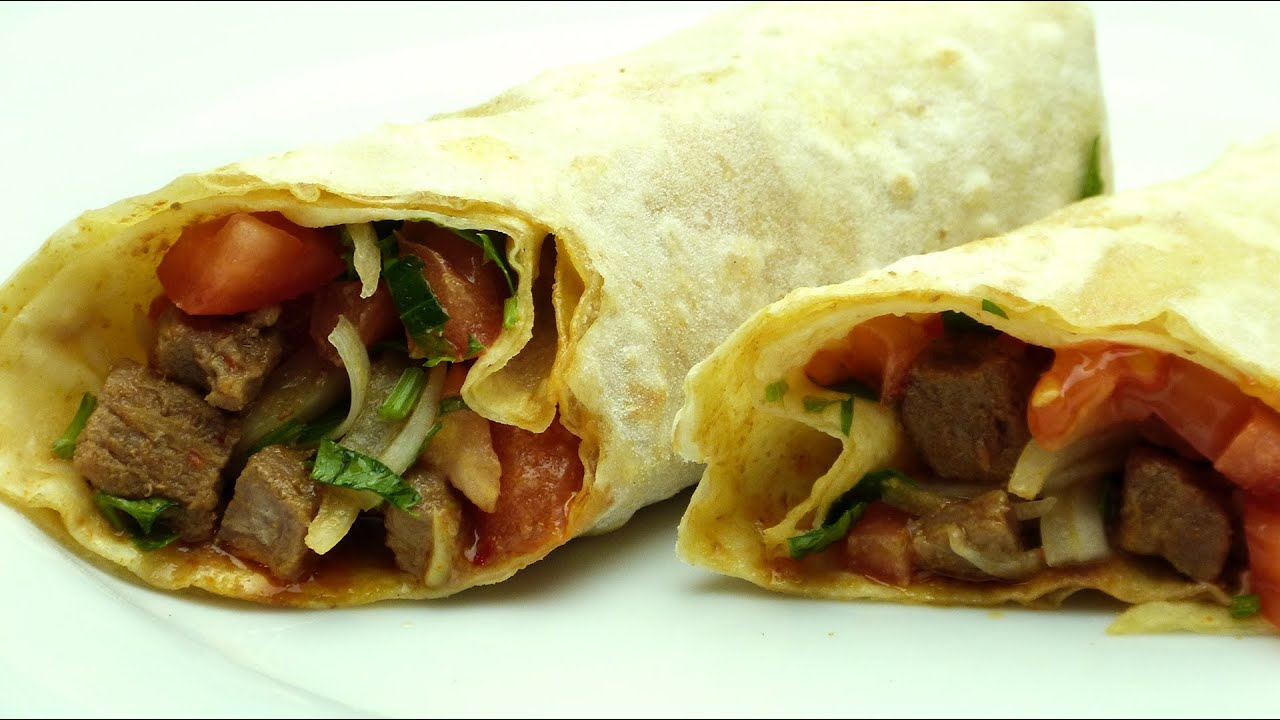 Turkish Beef Wrap Recipe Easy Turkish Food Youtube