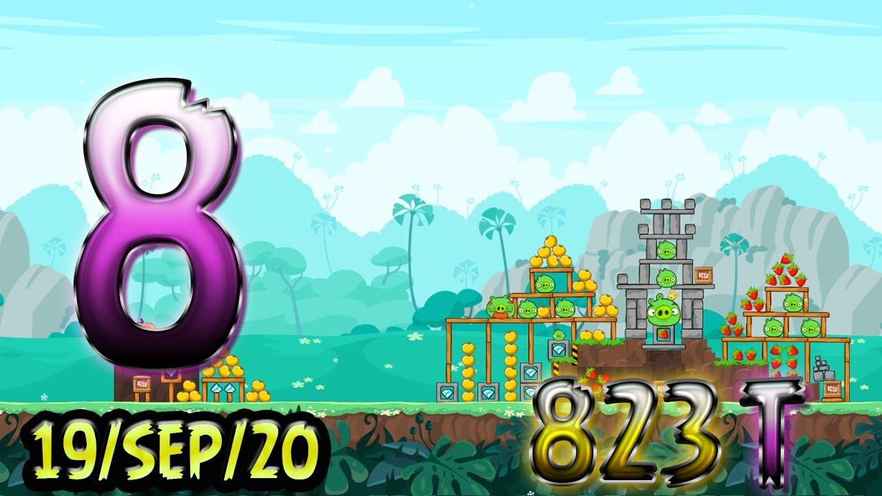 Angry Birds Friends Level 8 Tournament 823 Highscore POWER-UP walkthrough