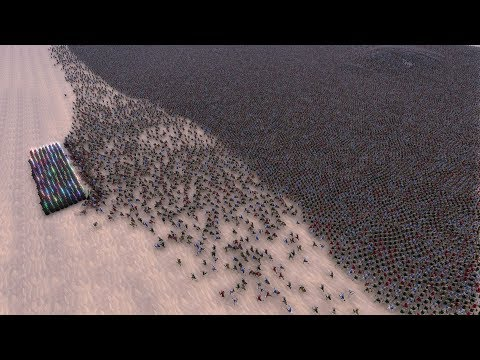 300 JEDI vs 60.000 FOOTMEN - Ultimate Epic Battle Simulator