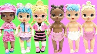 Play Doh LOL Surprise Bon Bon, Pink Baby, Agent 00L, Lil Bon Bon, Lil Pink Baby, Lil Agent 00L