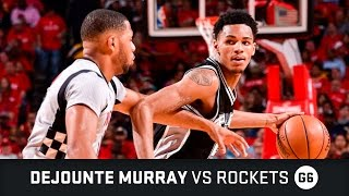 Dejounte Murray Highlights: 11 PTS, 5 AST, 2 STL vs Rockets Semifinals Game 6 (11.05.2017)