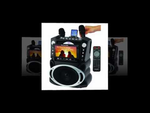 Karaoke USA Karaoke System with 7 Inch TFT Color Screen and Record Function GF829