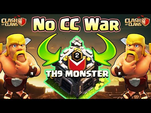 Town Hall 9 (TH9) Special War Event | No Clan Castle Troops For Attackers | Clash Of Clans