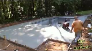 Mira como es que se hace una piscina