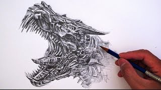 How to Draw Transformers Grimlock - Age of Extinction