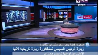 """بالفيديو.. سفيرة مصر تكشف أسباب زيارة """"السيسي"""" لسنغافورة"""
