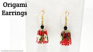 Origami earrings | DIY earrings | How to make paper earrings? #origami
