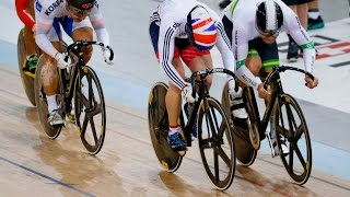 men s keirin gold final track cycling world cup cambridge new zealand