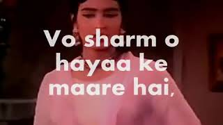 Yeh Dil Hai Mohabbat Ka Pyaasa | Karaoke | mukesh | with hindi lyrics