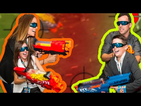 Thumbnail: EPIC FAMILY NERF CHALLENGE!! with Brand New Nerf Blasters!!