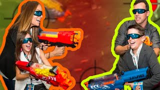 EPIC FAMILY NERF CHALLENGE!! with Brand New Nerf Blasters!!