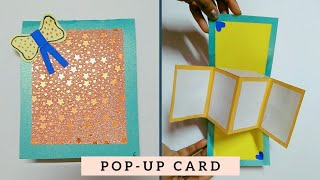 DIY Pop Up Card Tutorial   Twist & Pop Up Card For Scrapbook/EXPLOSION CARD  Art & Creativity ❤