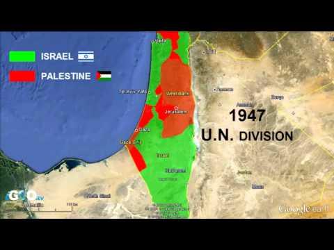 Territorios Palestina e Israel: Evolución / Palestine & Israel Territories [IGEO.TV]