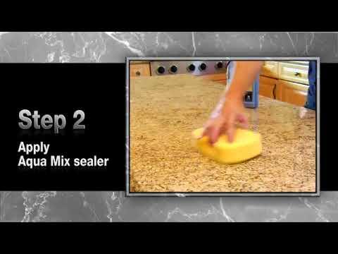 DIY How to apply Aqua Mix® Natural Stone Sealer
