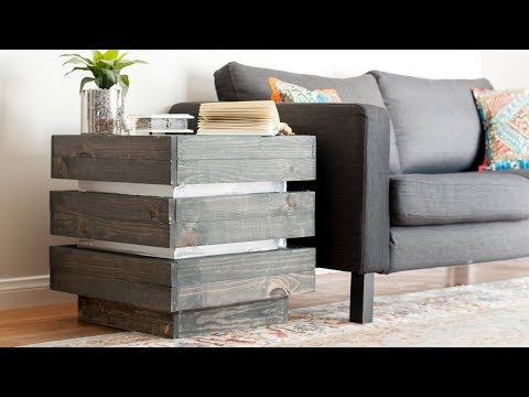 DIY End Table - How To Build a West Elm Inspired Side Table