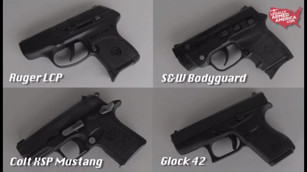 Ladies review the Glock 42, Colt XSP Mustang, S&W Bodyguard, & Ruger LCP