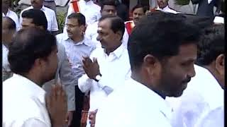 CM KCR Swearing Ceremony At Raj Bhavan 2018 LIVE  Pramana Sweekaram  Highlights 5