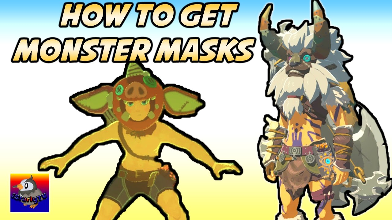 How To Get All Monster Masks In Legend Of Zelda Breath Of The Wild How To Get Dark Link Outfit Youtube