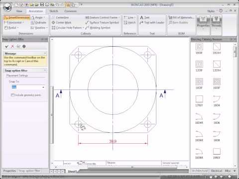 IRONCAD Training – 2D Drawing Part Cylinder
