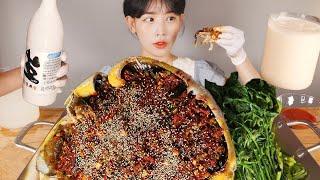 더워서 견딜 수 없던 날😥 노랑가오리통찜 먹방 Steam yellow stingray  [eating show]mukbang korean food