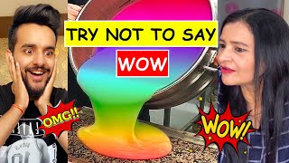 TRY Not to Say WOW Challenge VS My MOM *Impossible*