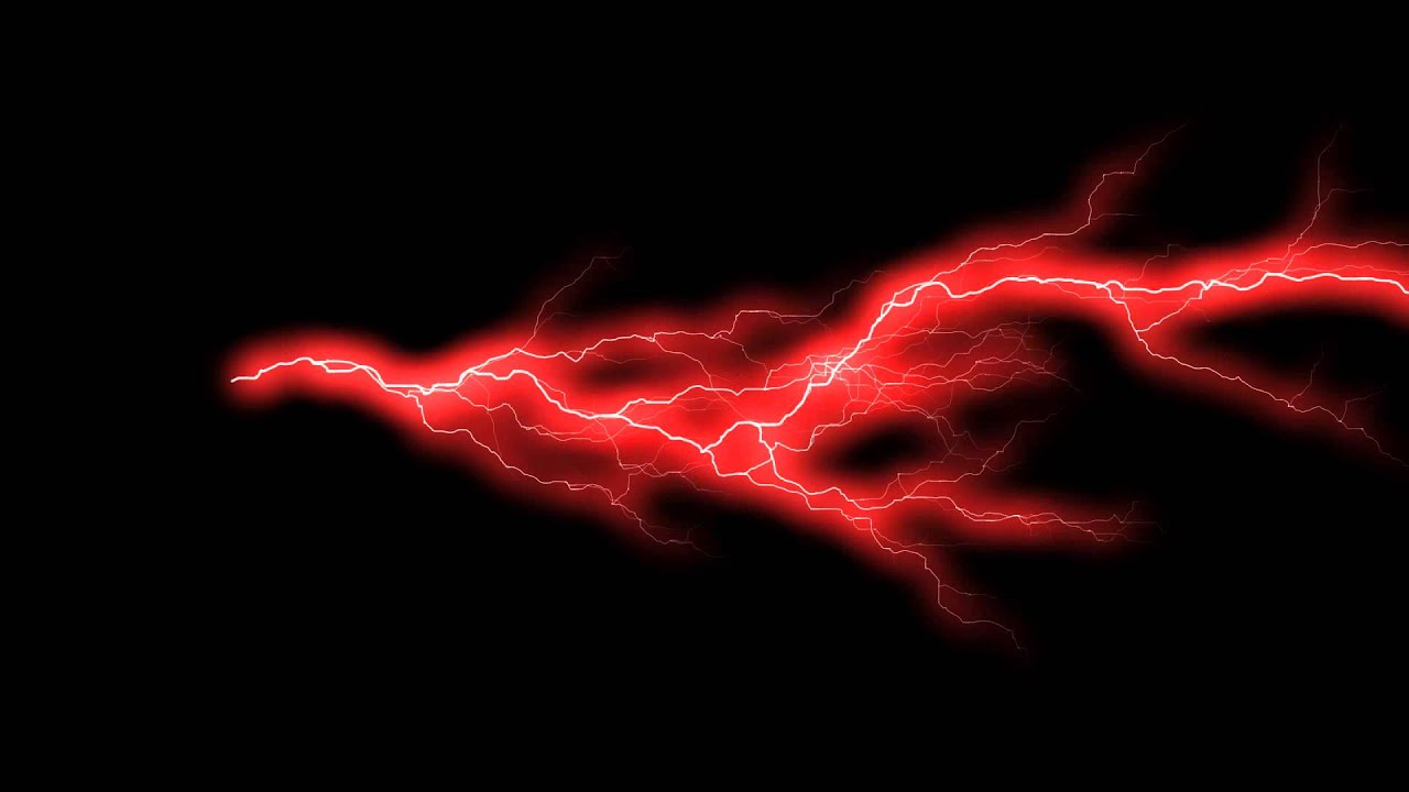 Force Lightning Red Animation 2 FREE FOOTAGE HD