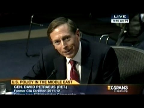 General Petraeus Testifies Before Congress For The First Time Since Resigning As Director Of CIA