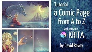 البرنامج التعليمي: كوميدي صفحة من A إلى Z مع Krita