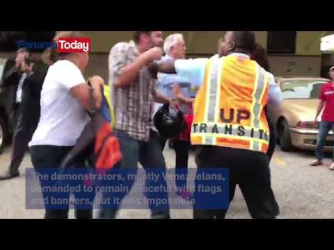 Pro Chavismo groups attacked Venezuelans at the University of Panama