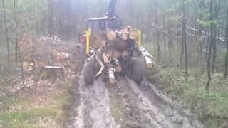 PROENGIL Przyczepa leśna z napędem na 4 koła do lasu