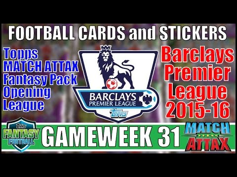 Download FOOTBALL CARDS & STICKERS ⚽️ GAMEWEEK 31 ⚽️ TOPPS MATCH ATTAX PREMIER LEAGUE 2015-16 Trading Cards