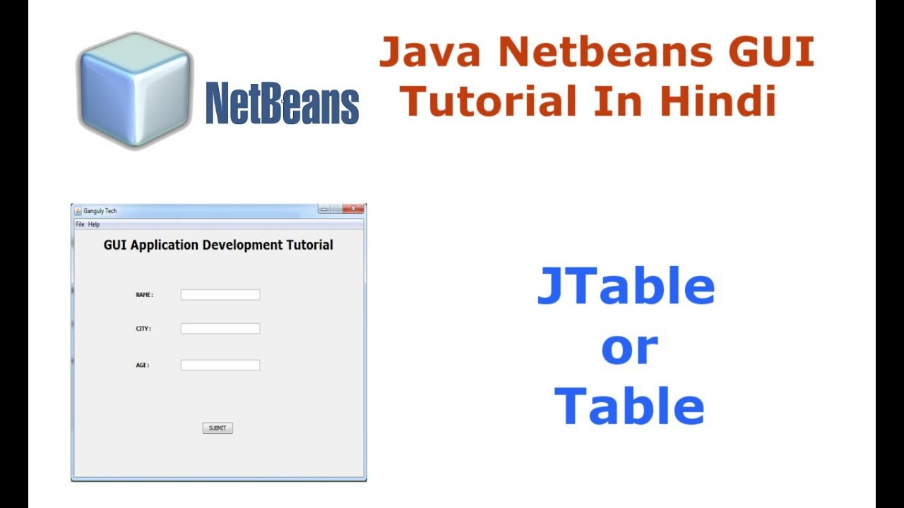 Java Swing Netbeans IDE GUI Tutorial - 11 - How To Use