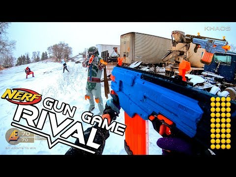 Zapętlaj NERF GUN GAME | RIVAL EDITION! (First Person Shooter in 4k!) | Aaron Esser
