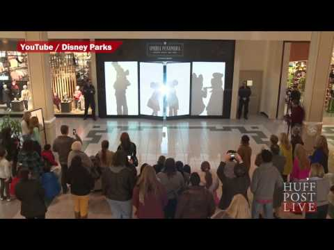 Disney Characters Shadow Mall Shoppers In Adorable Prank